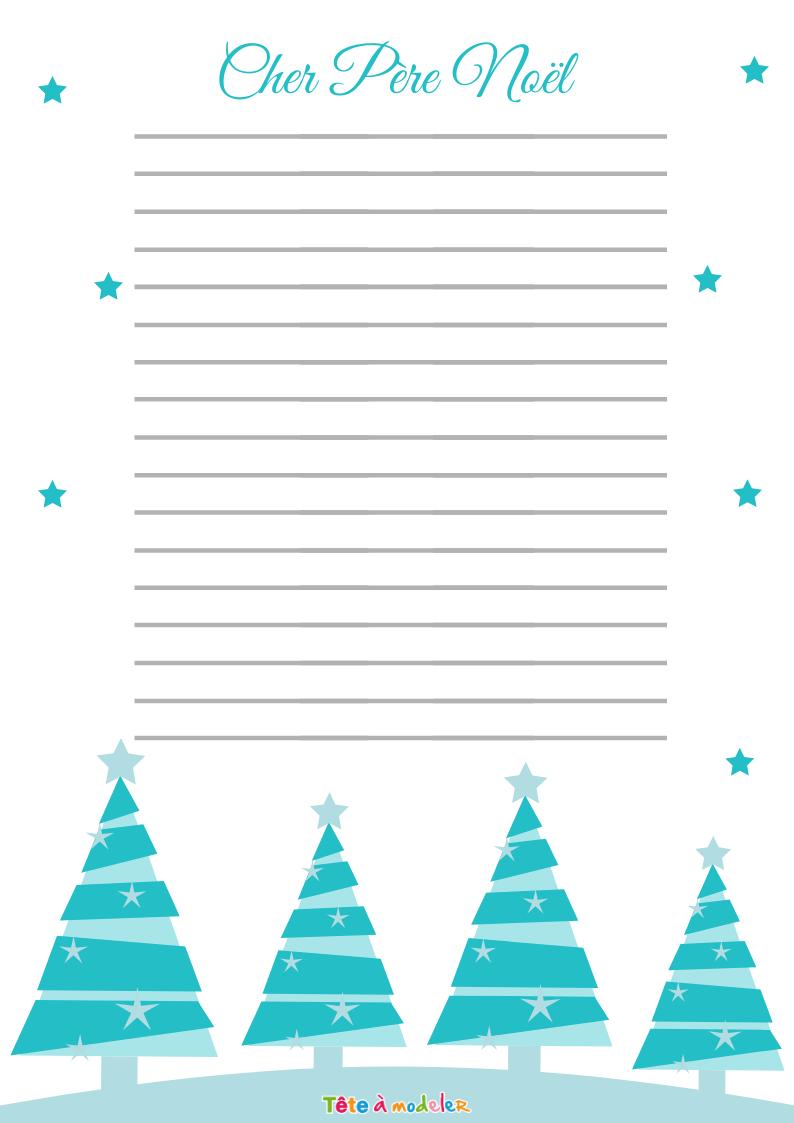Papier À Lettre Gratuit Pour Noël - Tête À Modeler à Papier Lettre De Noel