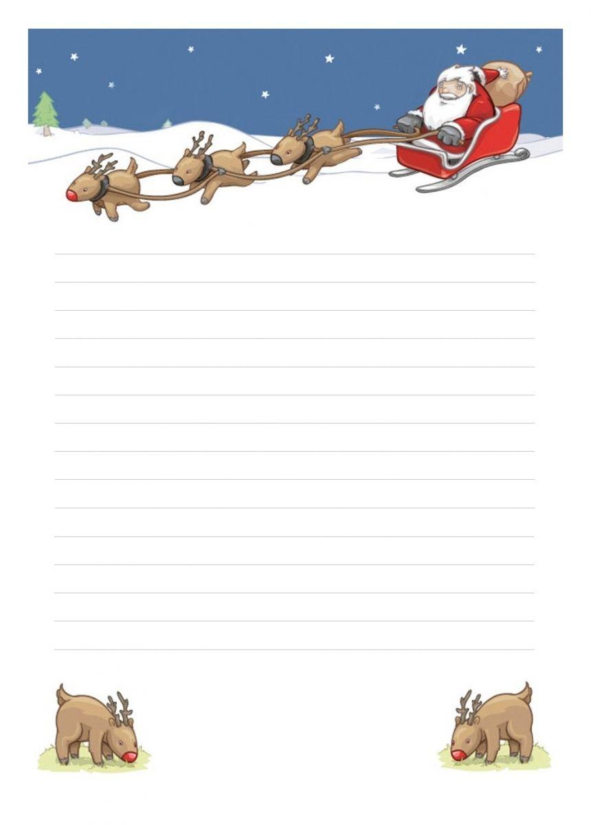 Papier À Lettre Noël À Imprimer À La Maison Librement serapportantà Papier Lettre De Noel