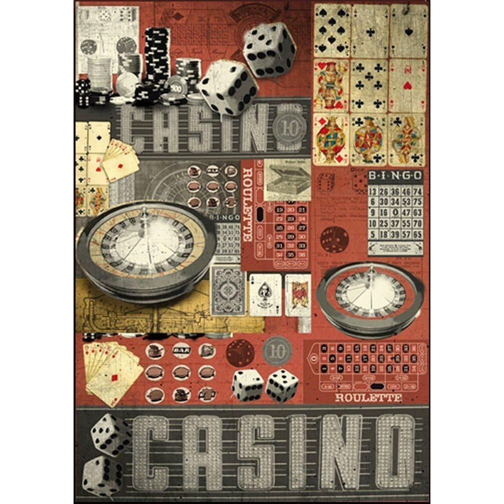 Papier De Découpage Dfg385 Casino Vintage Jeux encequiconcerne Jeux De Découpage