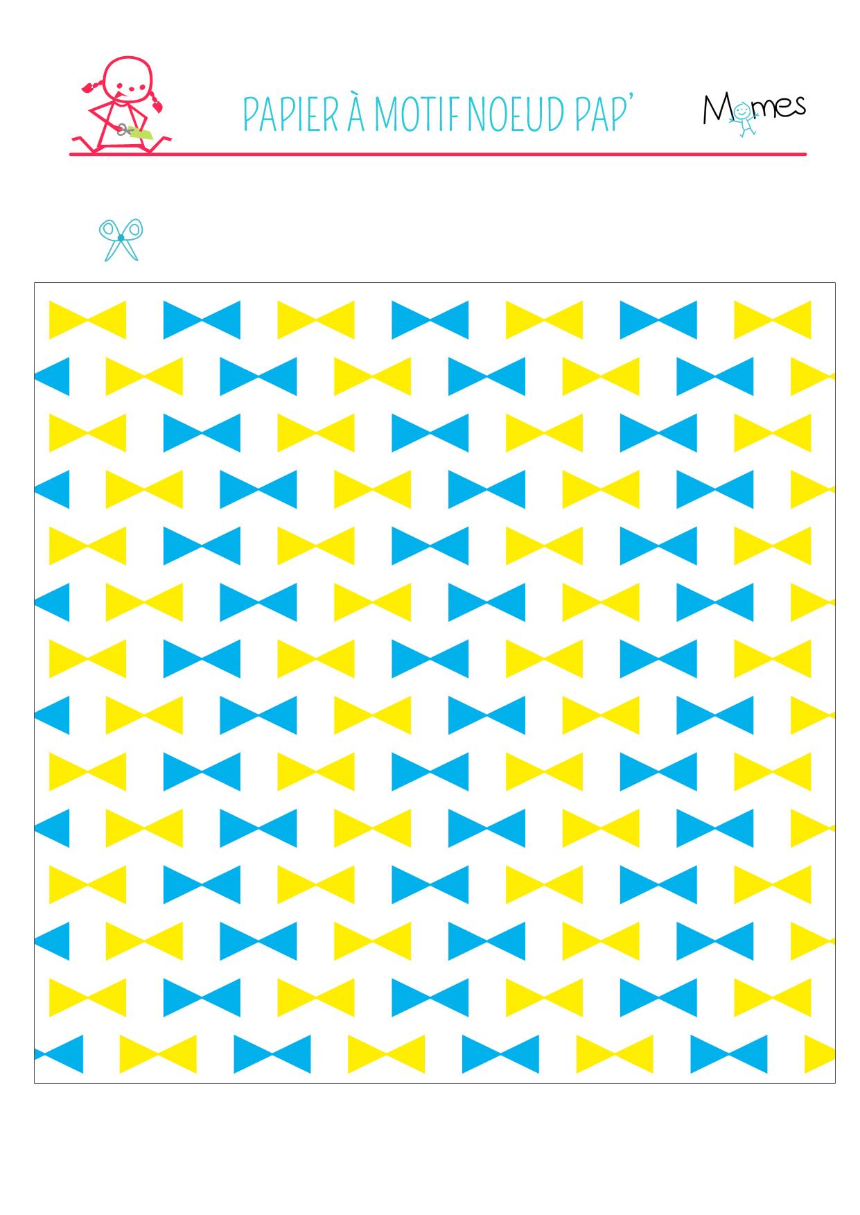 Papier Motif Noeuds Papillon À Imprimer - Momes serapportantà Etiquette Papillon A Imprimer