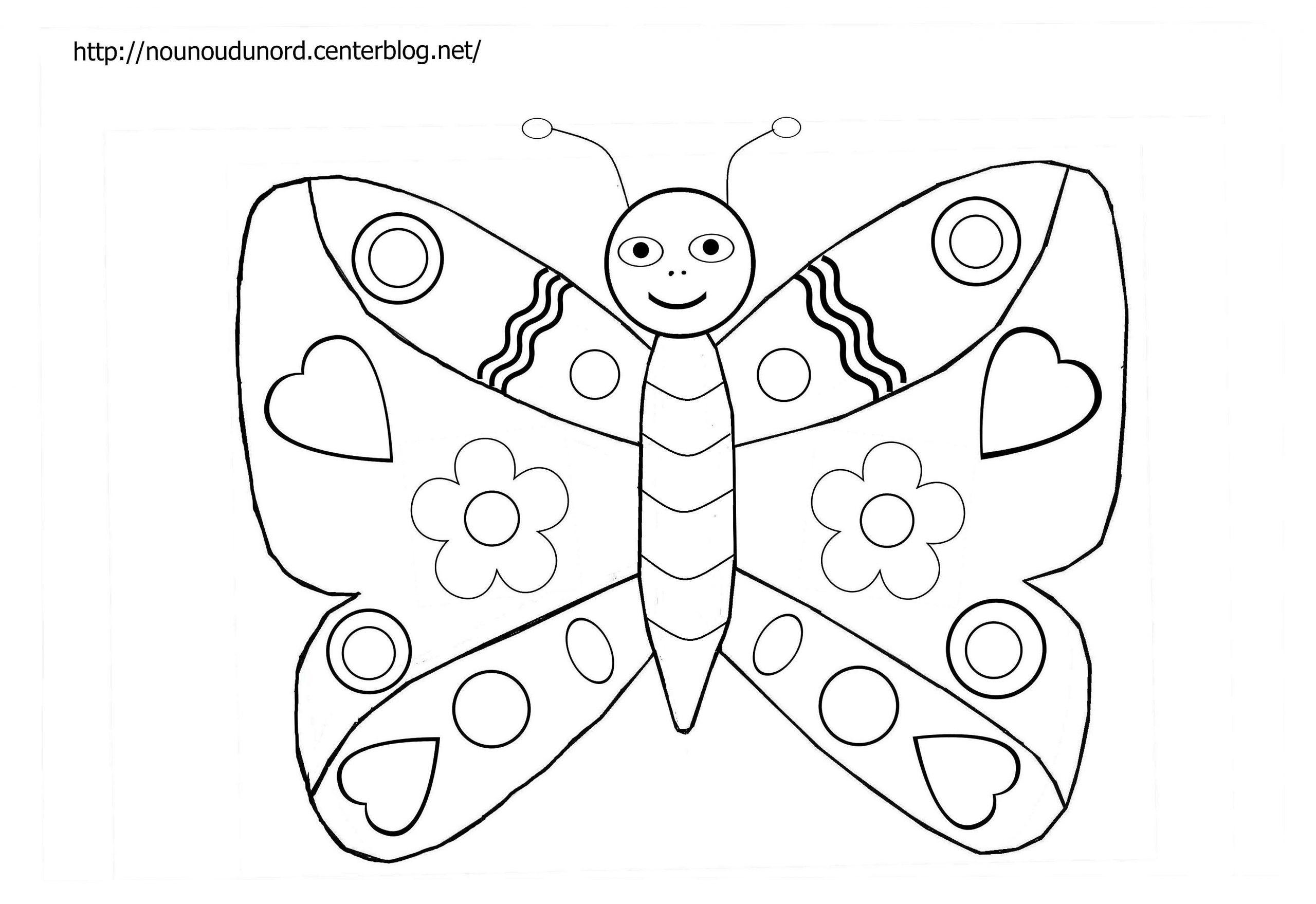 Papillon #38 (Animaux) – Coloriages À Imprimer avec Dessin Papillon À Colorier