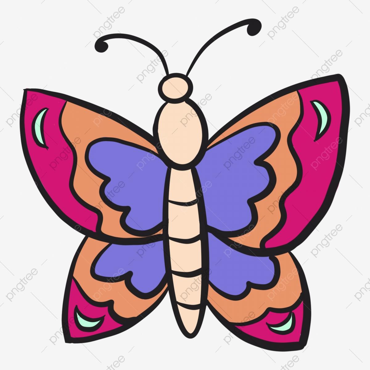 Papillon De Dessin Animé Couleur Papillon Illustration De serapportantà Papillon À Dessiner