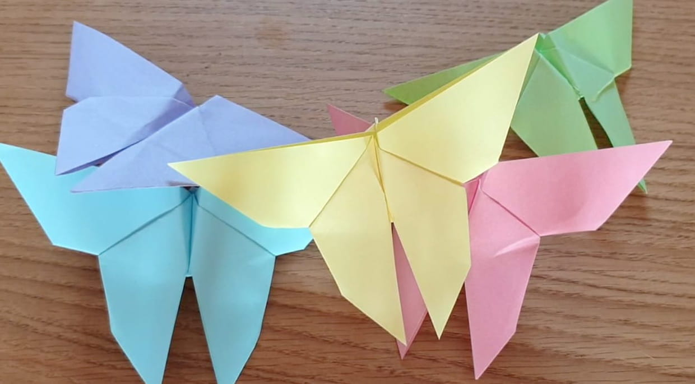 Papillon En Origami, Pliage Papier [Video] serapportantà Pliage Papier Enfant
