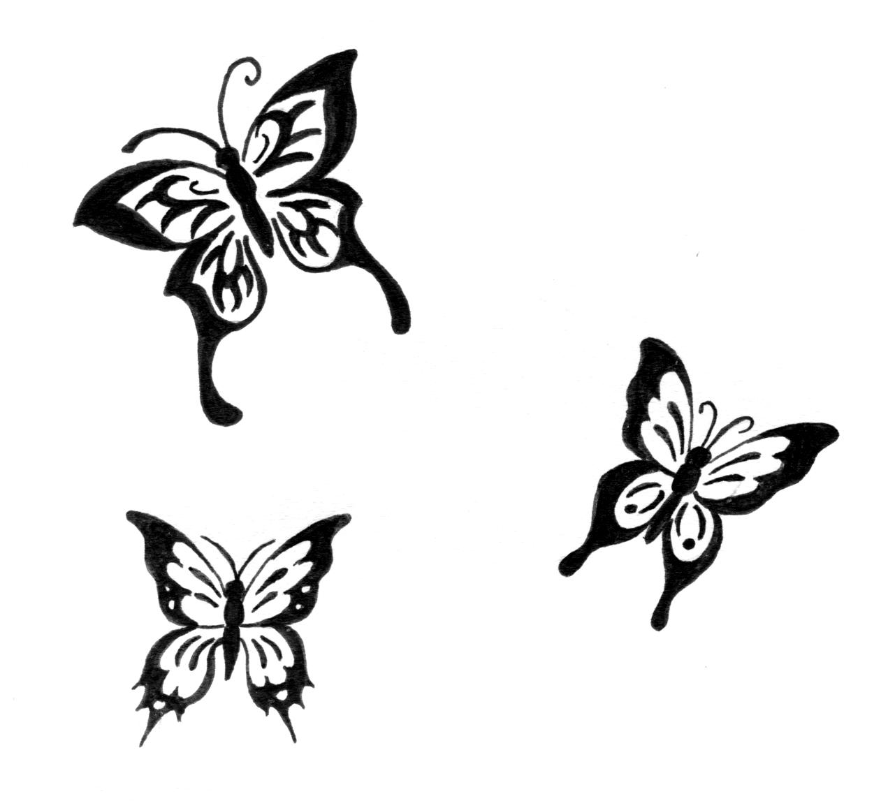 Papillon Noir Png 5 » Png Image à Papillon À Dessiner