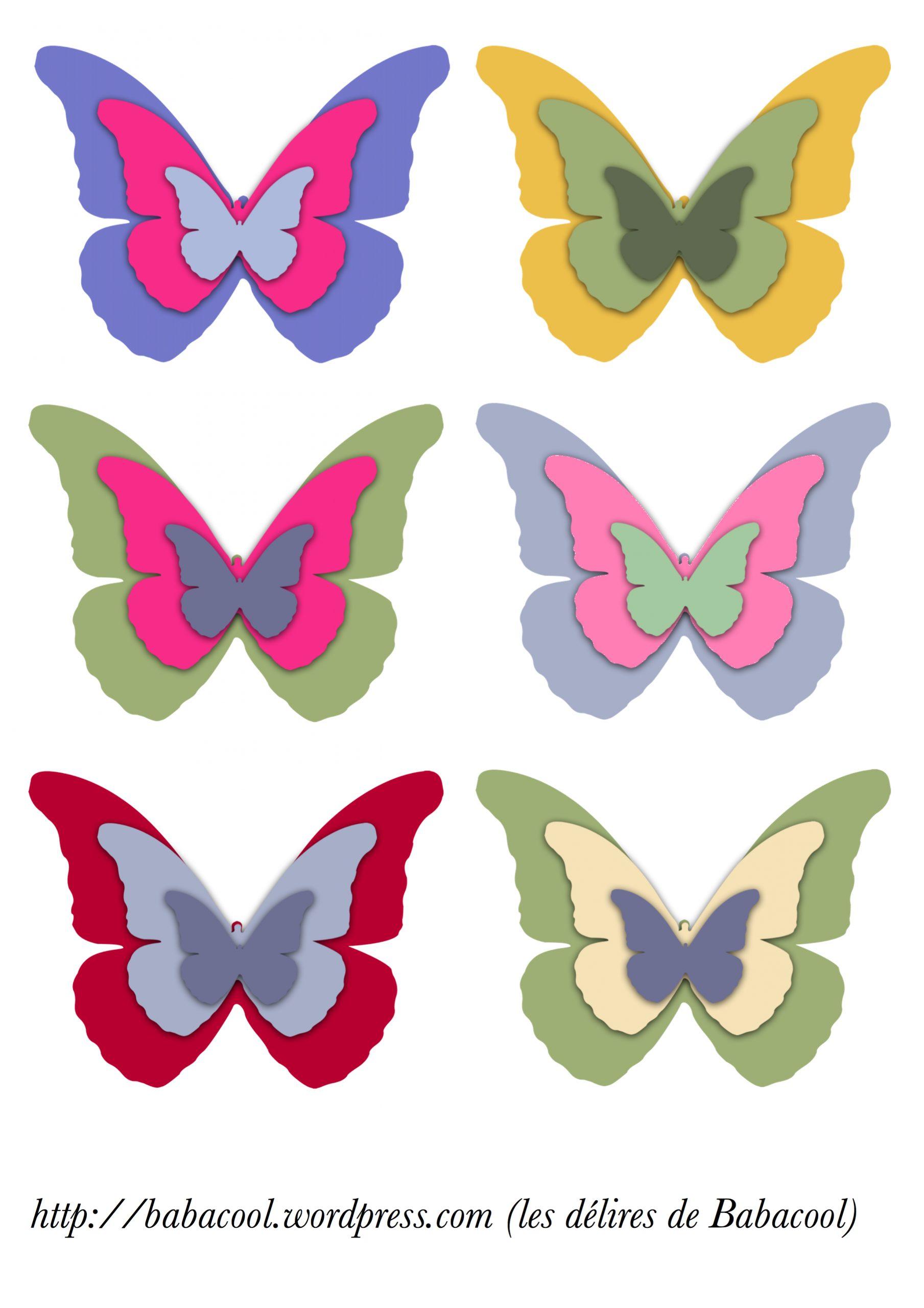Papillons À Imprimer | Babanew encequiconcerne Etiquette Papillon A Imprimer