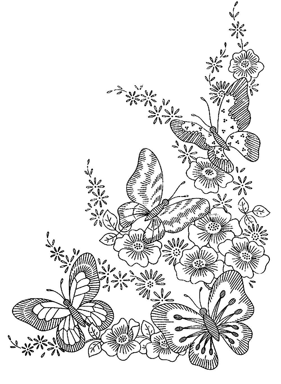 Papillons Fleurs - Coloriages D'insectes - 100% Mandalas Zen pour Dessin Papillon À Colorier