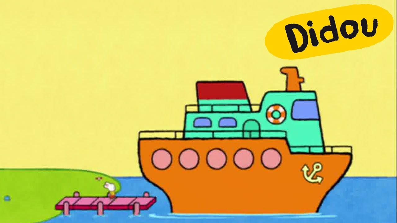Paquebot - Didou, Dessine-Moi Un Paquebot | Dessins Animés Pour Les Enfants  , Plus 🎨 Ici ⬇⬇⬇ intérieur Paquebot Dessin