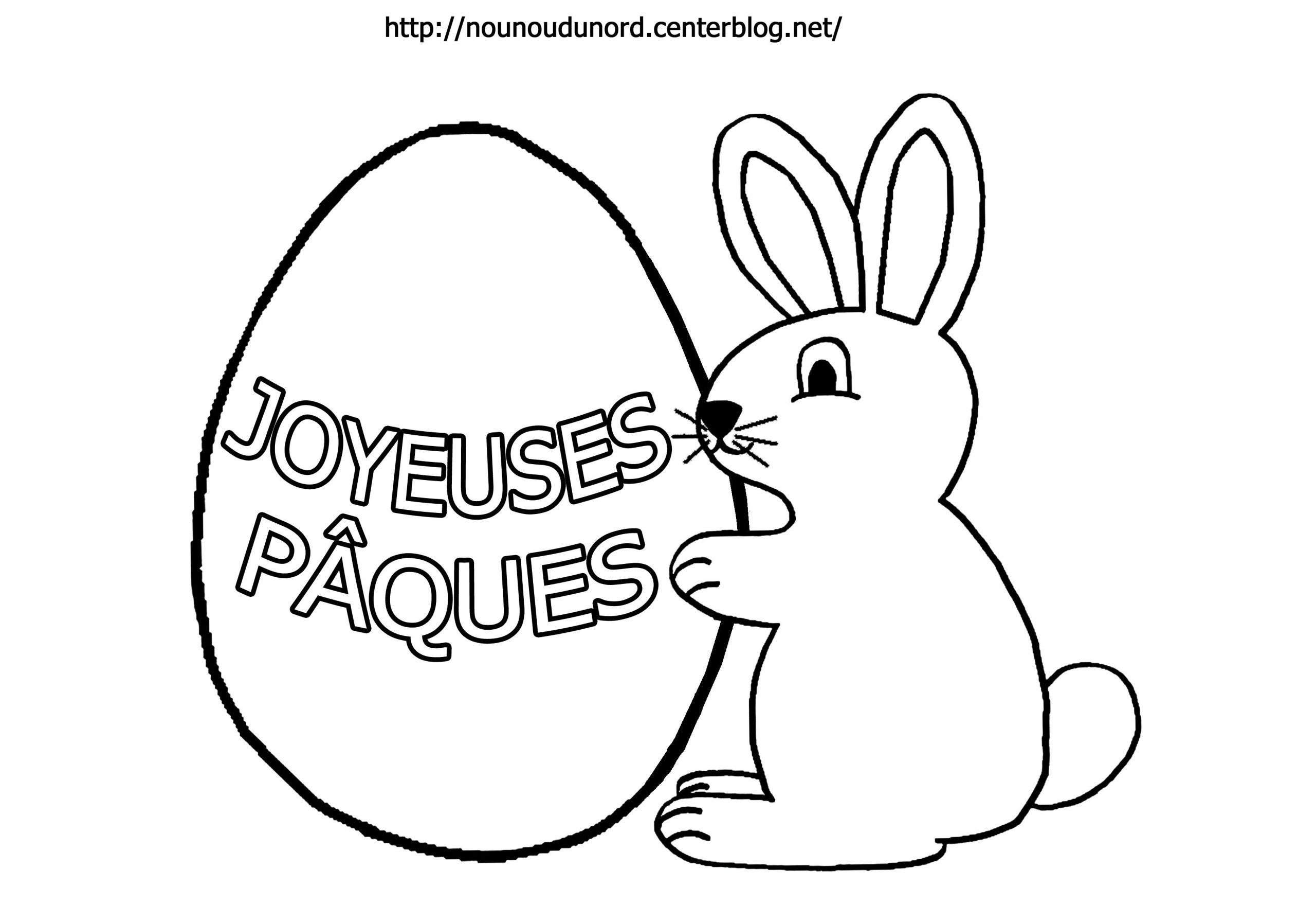 Pâques #110 (Fêtes Et Occasions Spéciales) – Coloriages À concernant Dessin Pour Paques