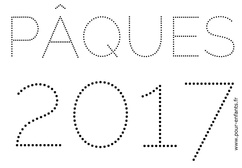 Pâques 2017 Dessin En Pointillés Pour Faire Un Coloriage À dedans Dessin En Pointillé