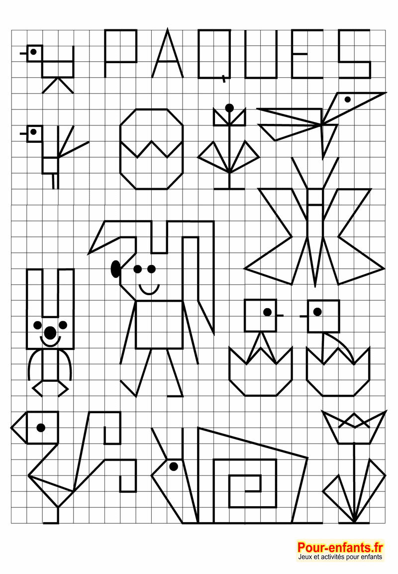 Pâques 2018 Date Jeux À Imprimer Maternelle Quadrillage à Jeux De Dessin Pixel Art Gratuit
