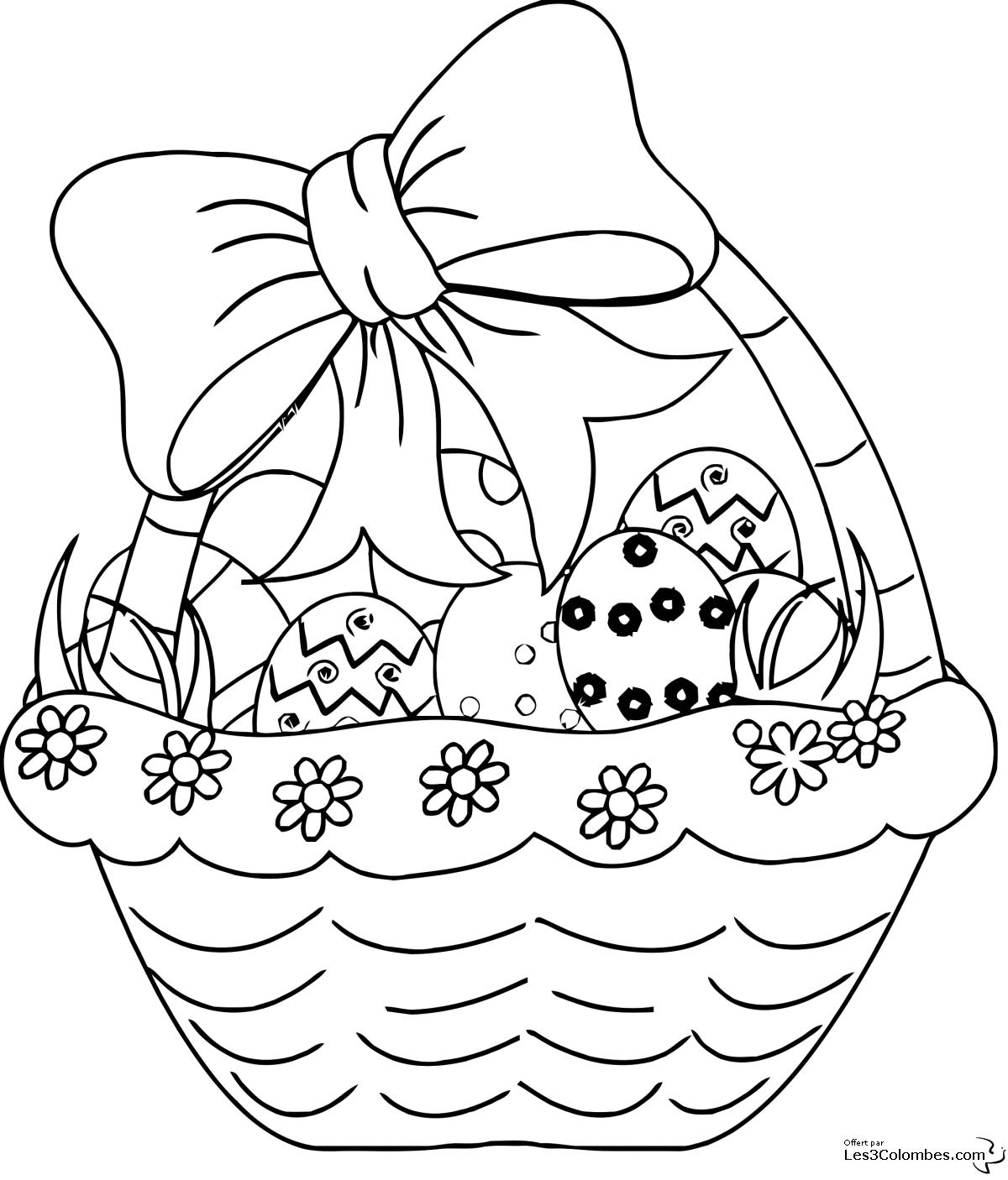 Pâques #38 (Fêtes Et Occasions Spéciales) – Coloriages À intérieur Dessin Pour Paques