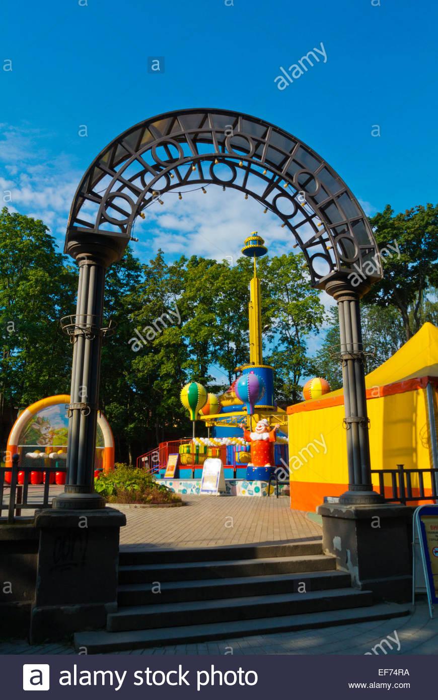 Parc Avec Jeux Pour Petits Enfants, Parc Lénine, Vyborg serapportantà Jeux Pour Petit Enfant
