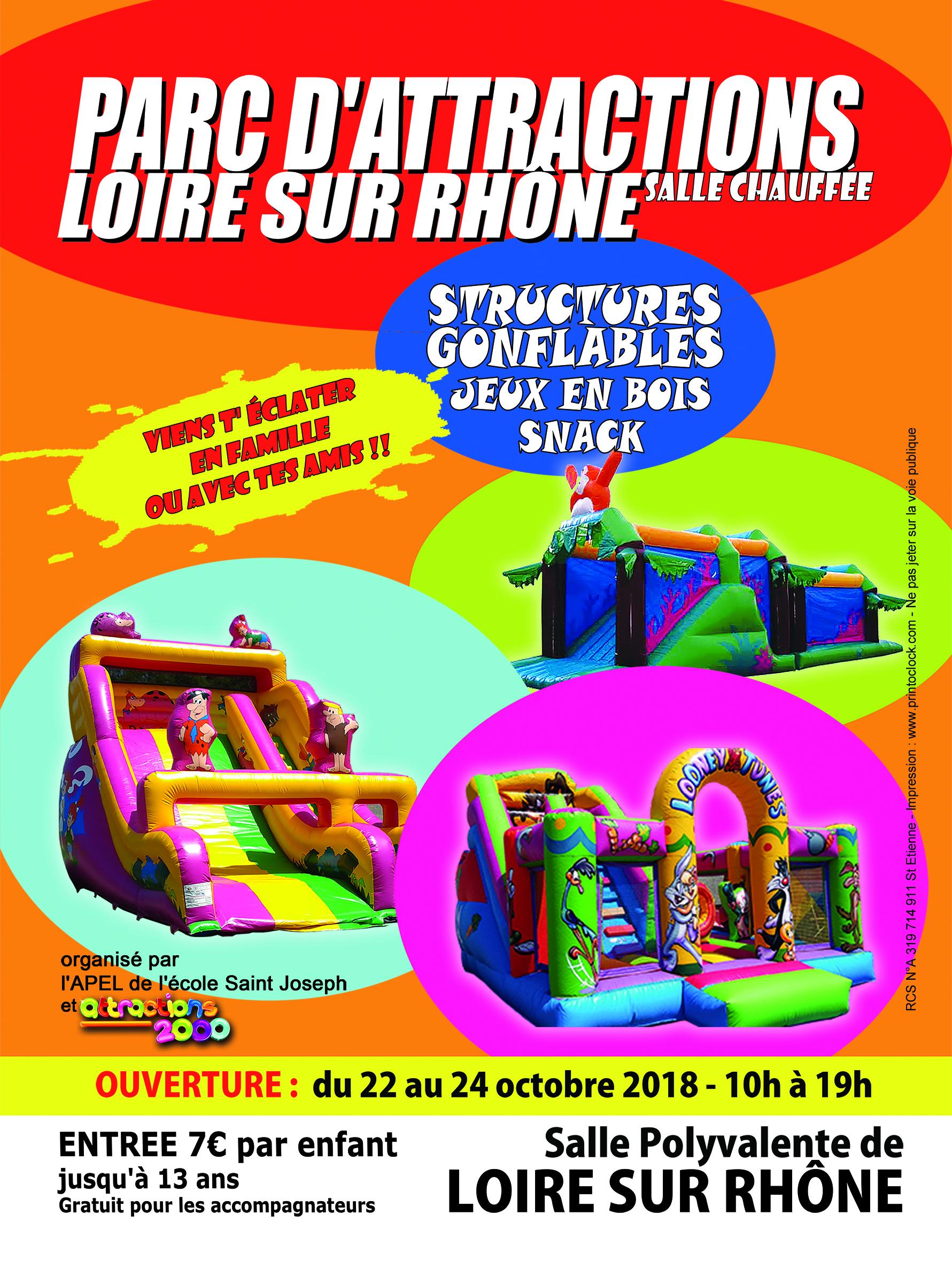Parc De Jeux Gonflables - Loire-Sur-Rhône - Parcs De Loisirs pour Jeux Enfant 7 Ans