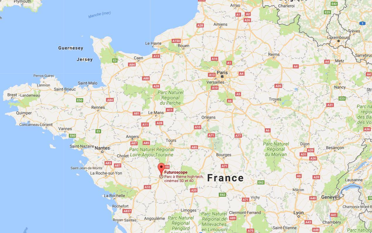 Parc Du Futuroscope - Découvrir Un Des Meilleurs Parcs D serapportantà Carte De France Ludique