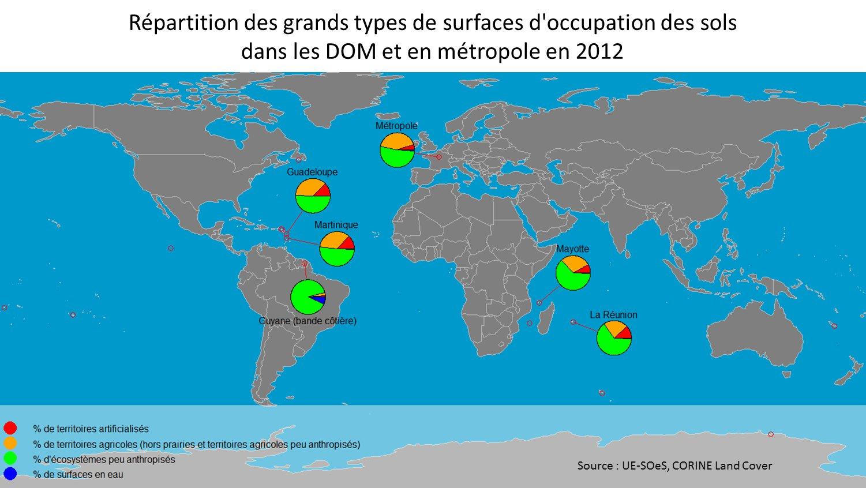 Part Du Territoire Des Dom Occupé Par Les Écosystèmes Peu tout Département D Outre Mer Carte