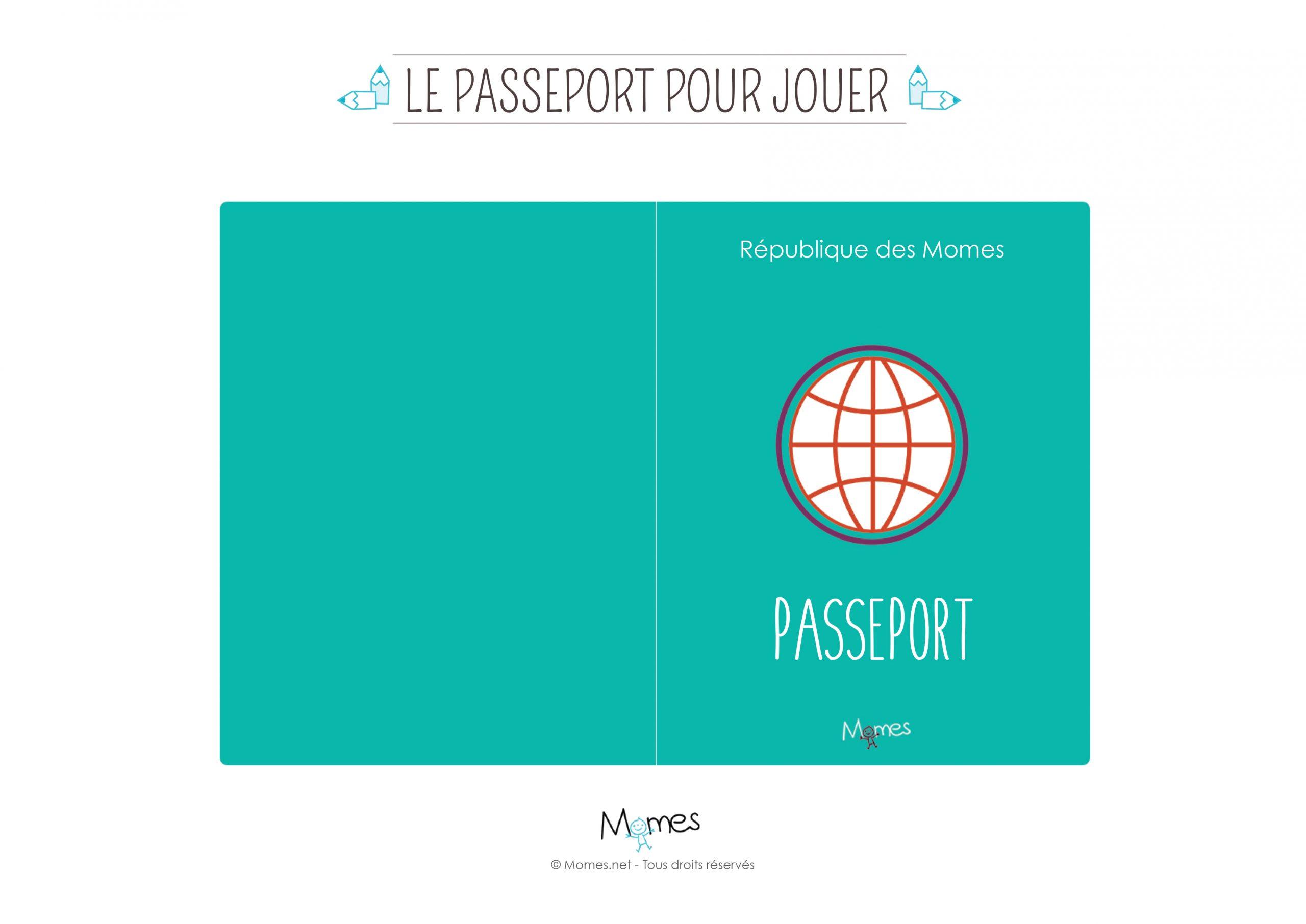 Passeport À Imprimer Pour Jouer - Momes pour Billet À Imprimer Pour Jouer