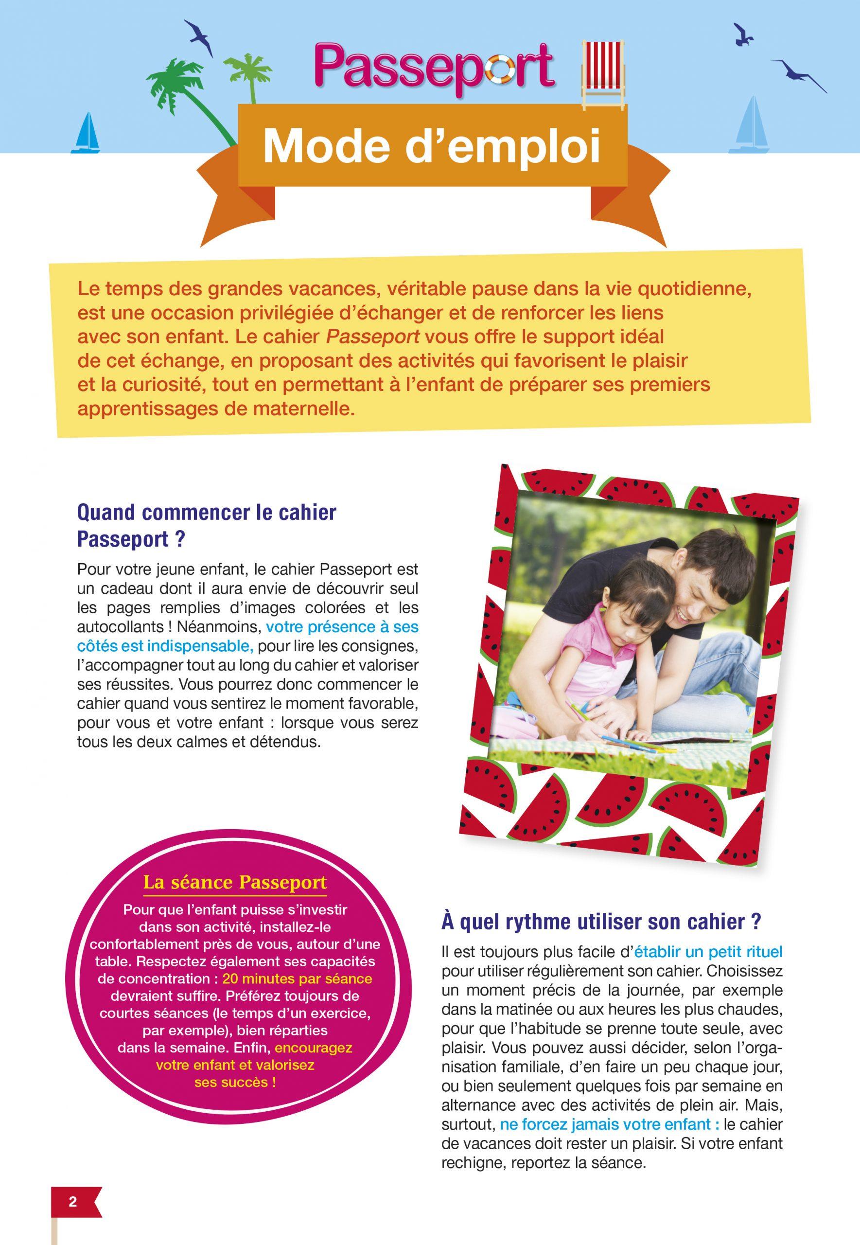 Passeport Cahier De Vacances 2019 De La Ps À La Ms - 3/4 Ans intérieur Cahier De Vacances Maternelle À Imprimer