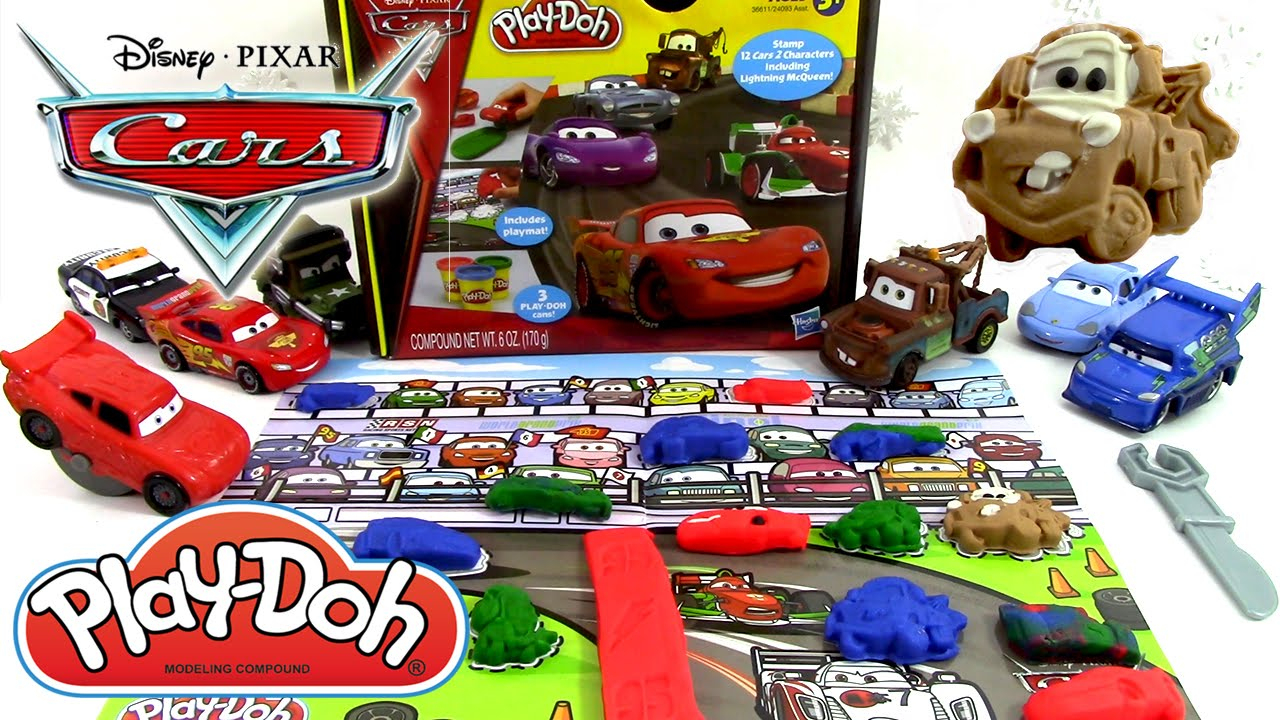 Pâte À Modeler Disney Cars 2 Play Doh Flash Mcqueen, Martin, Luigi, Guido,  Grand Prix pour Flash Mcqueen Martin