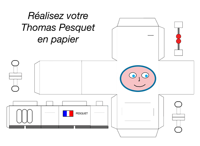 Patron Papertoy Thomas Pesquet avec Paper Toy A Imprimer