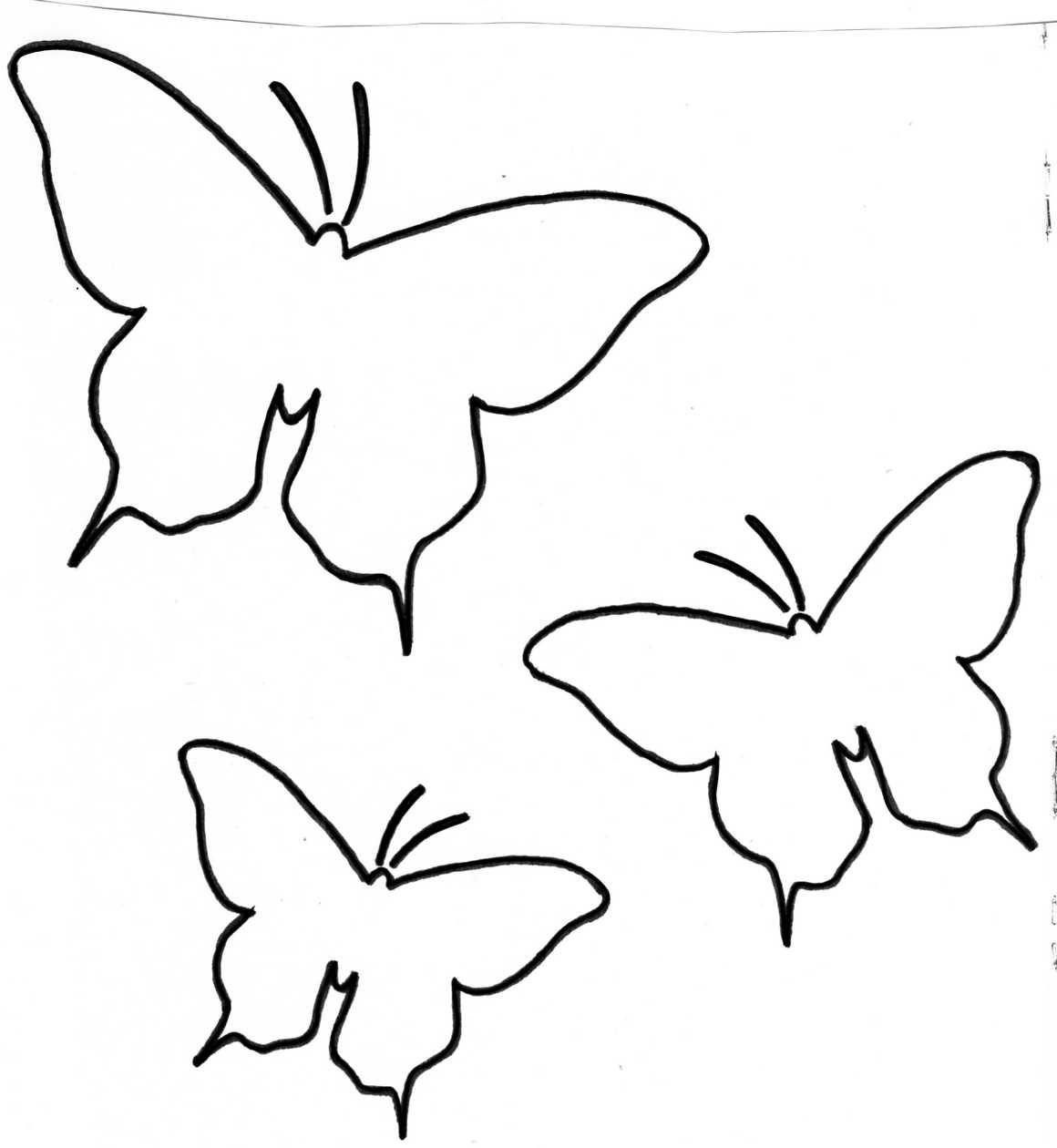 Patron-Papillon | Gabarit Fleur, Gabarit Papillon, Papillon dedans Etiquette Papillon A Imprimer
