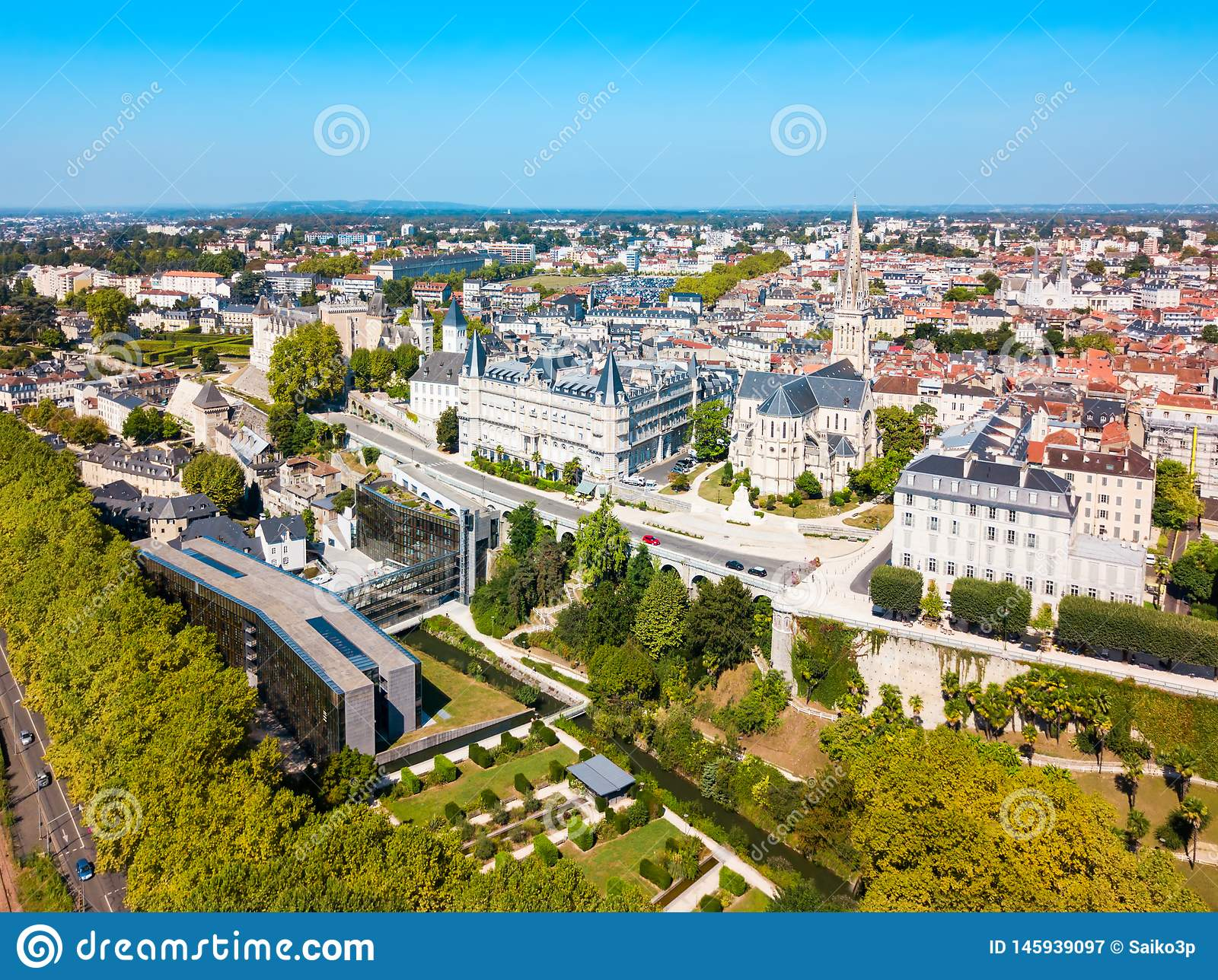 Pau Aerial Panoramic View, France Stock Image - Image Of encequiconcerne Nouvelle Region France