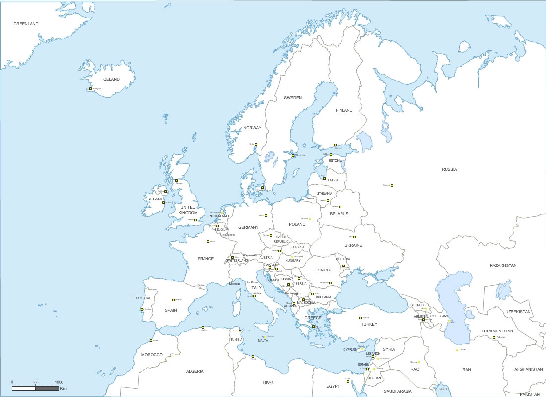 Pays D' Europe Avec Capitales destiné Carte Union Européenne 2017
