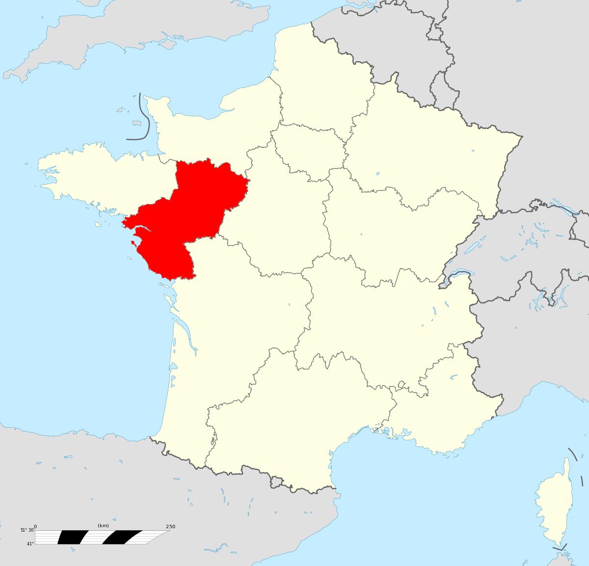 Pays De La Loire — Wikipédia dedans Carte De La France Avec Les Régions