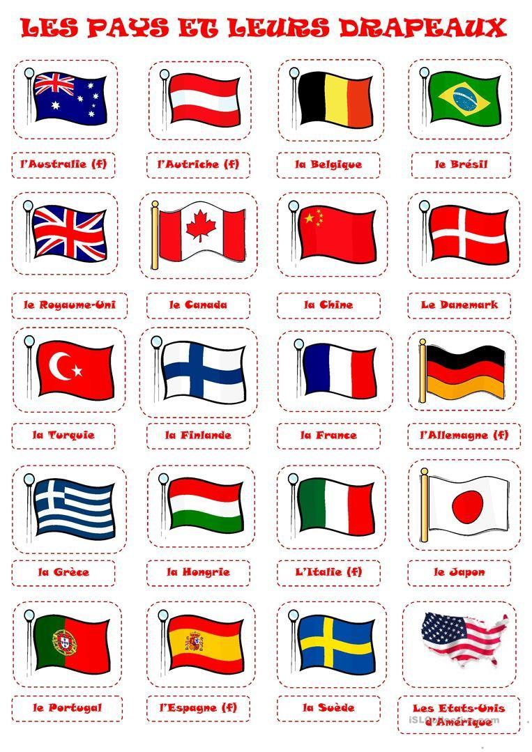 Pays Et Drapeaux 1 | Drapeaux Du Monde, Drapeau Pays Et Drapeau destiné Drapeaux Européens À Imprimer