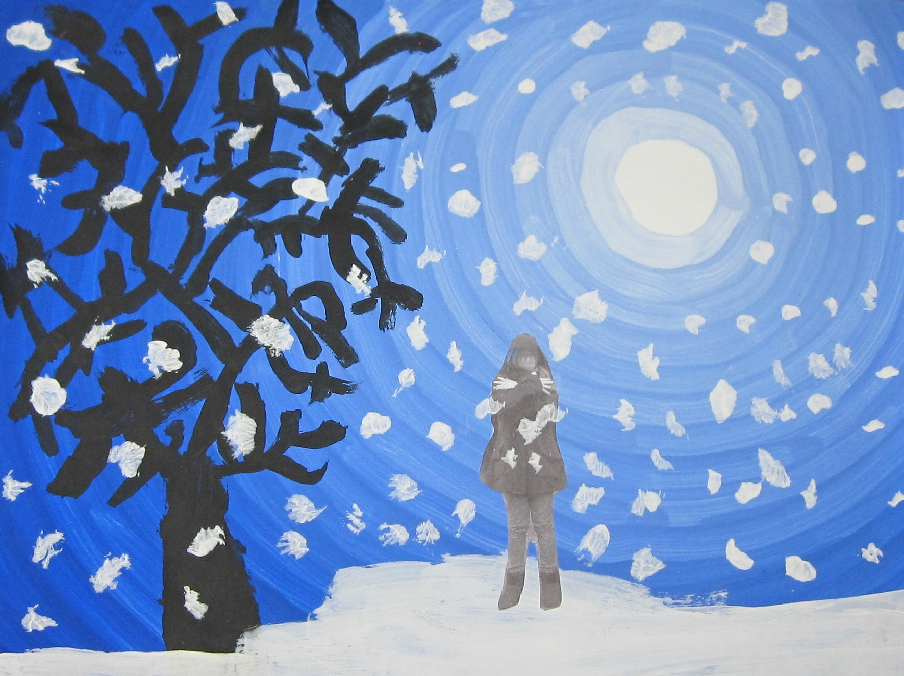 Paysage D'hiver - Celinepassion dedans Dessin De Paysage D Hiver