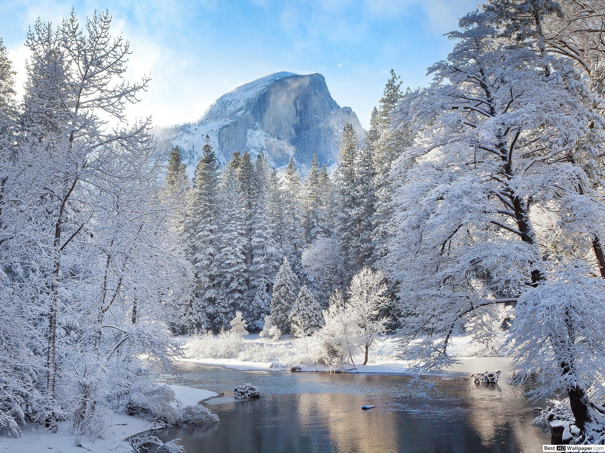 Paysage D'hiver Hd Fond D'écran Télécharger pour Dessin De Paysage D Hiver