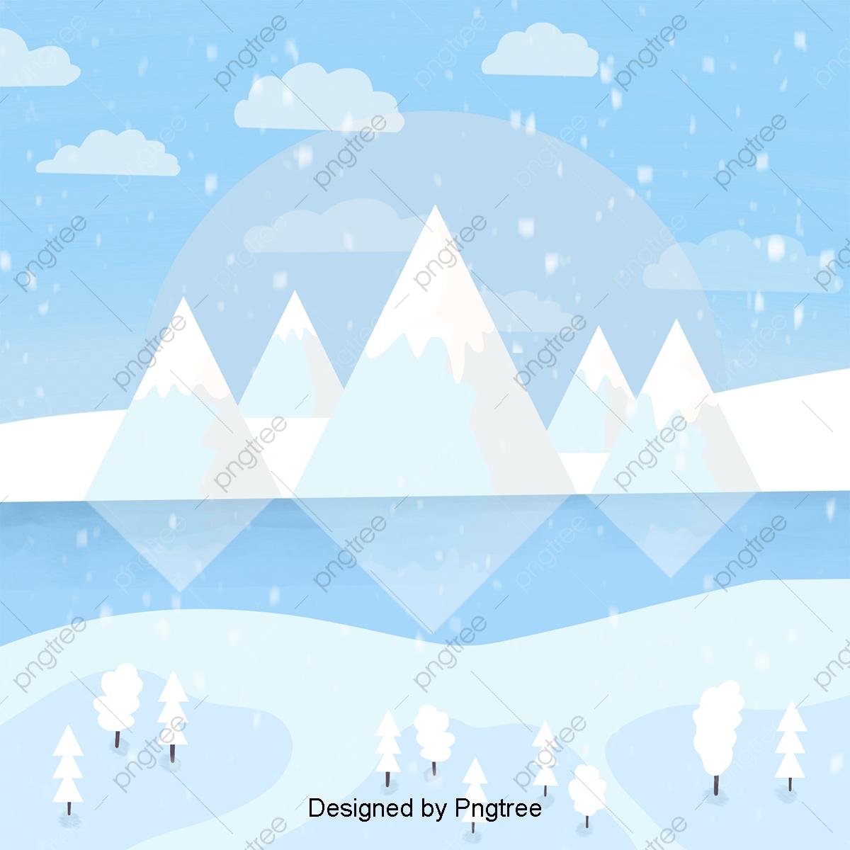 Paysage D'hiver Le Dessin D'arrière Plan, Les Flocons De à Dessin De Paysage D Hiver