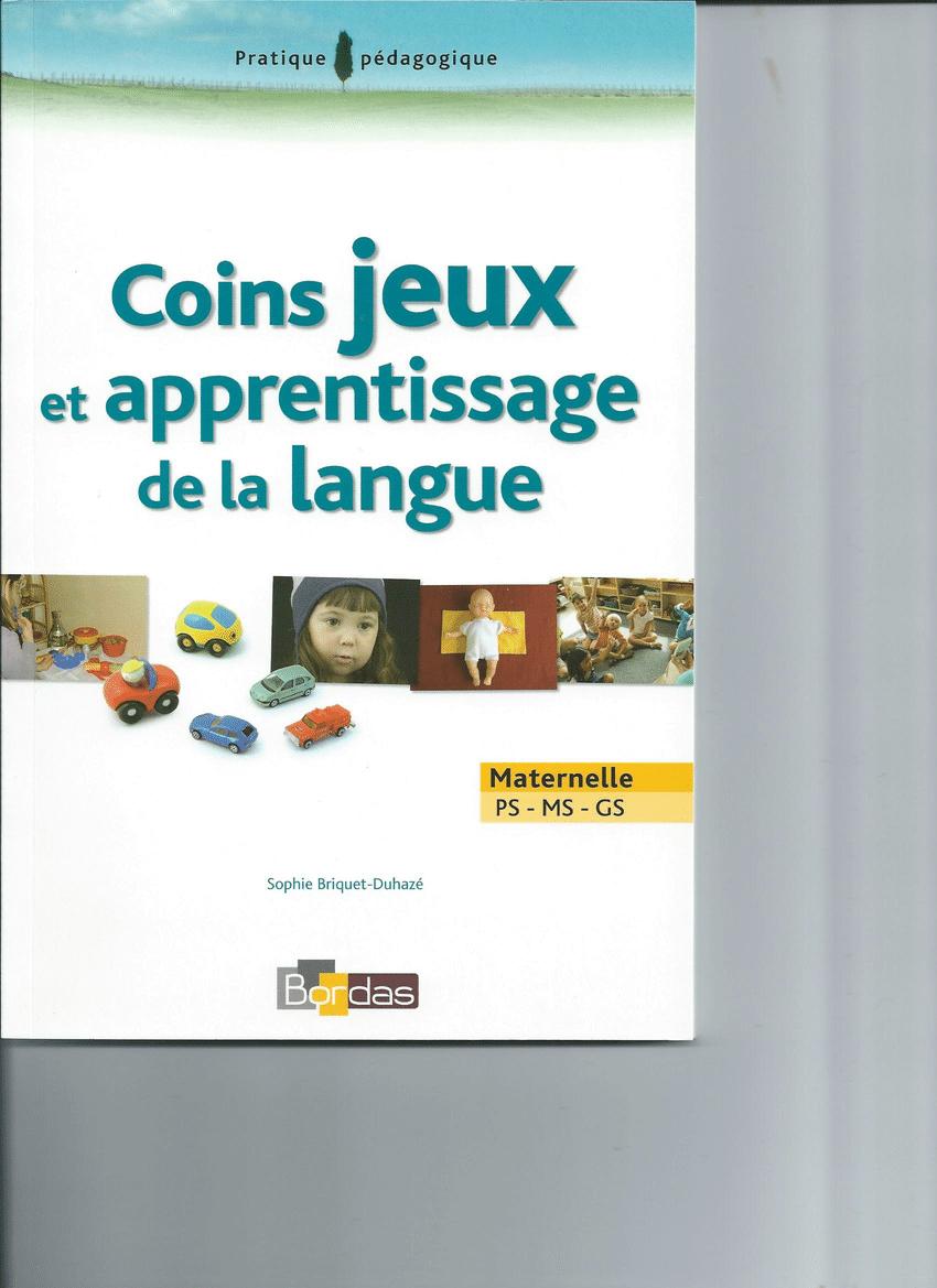 Pdf) Coins Jeux Et Apprentissage De La Langue Ps-Ms-Gs intérieur Jeux Educatif Gs