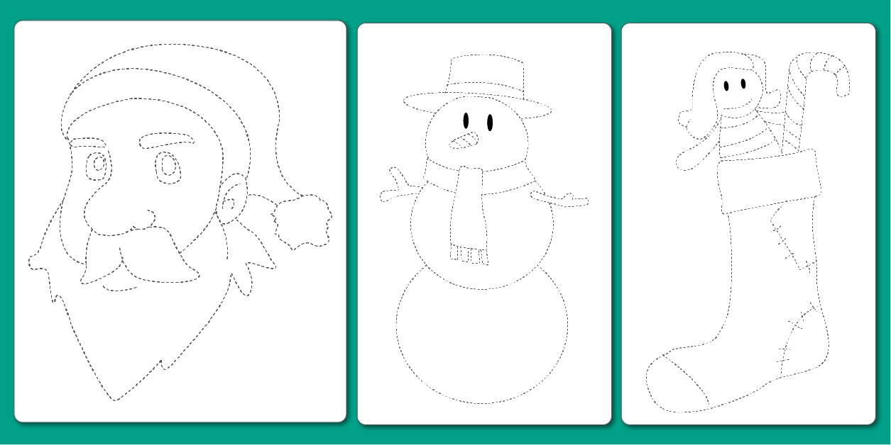 Pdf Dessin À Imprimer En Noël Graphisme Maternelle Et Cp avec Exercice Maternelle Petite Section Gratuit En Ligne