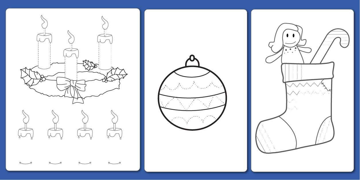 Pdf Fiche Graphisme Décoration De Noël En Maternelle Et Cp destiné Jeux Gratuit Maternelle Grande Section