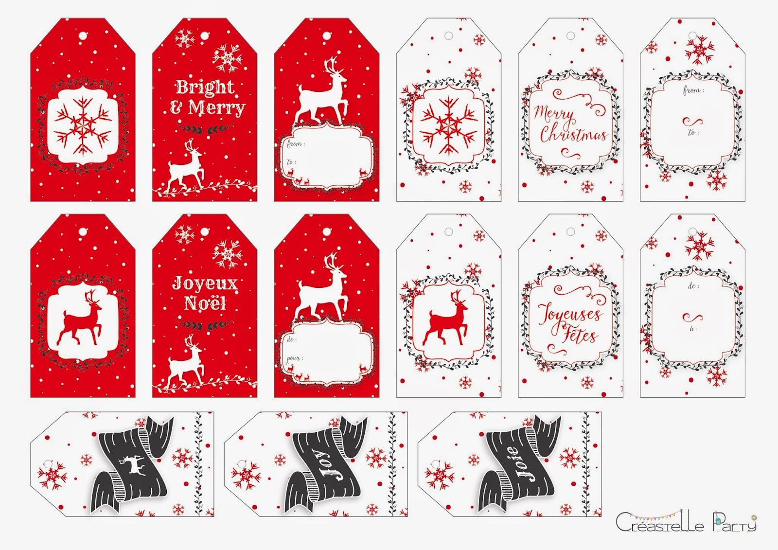 Pdf Gratuits: 300 Printables Spécial Noël - Pdf destiné Etiquette Cadeau Noel A Imprimer Gratuitement