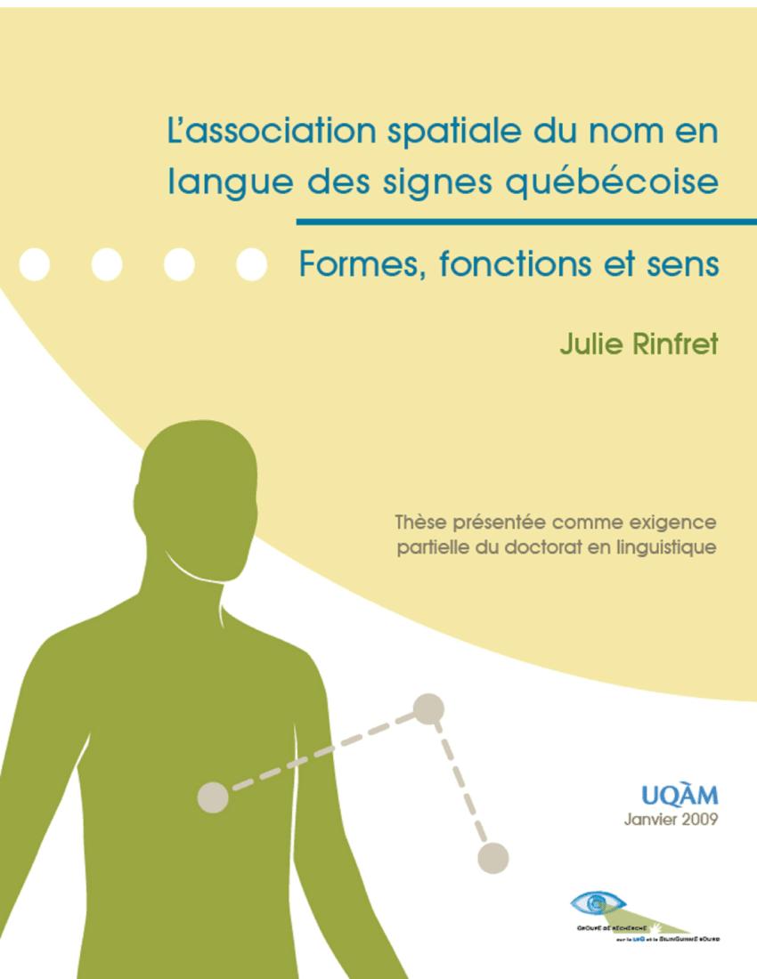 Pdf) L'association Spatiale Du Nom En Langue Des Signes dedans Association De Formes