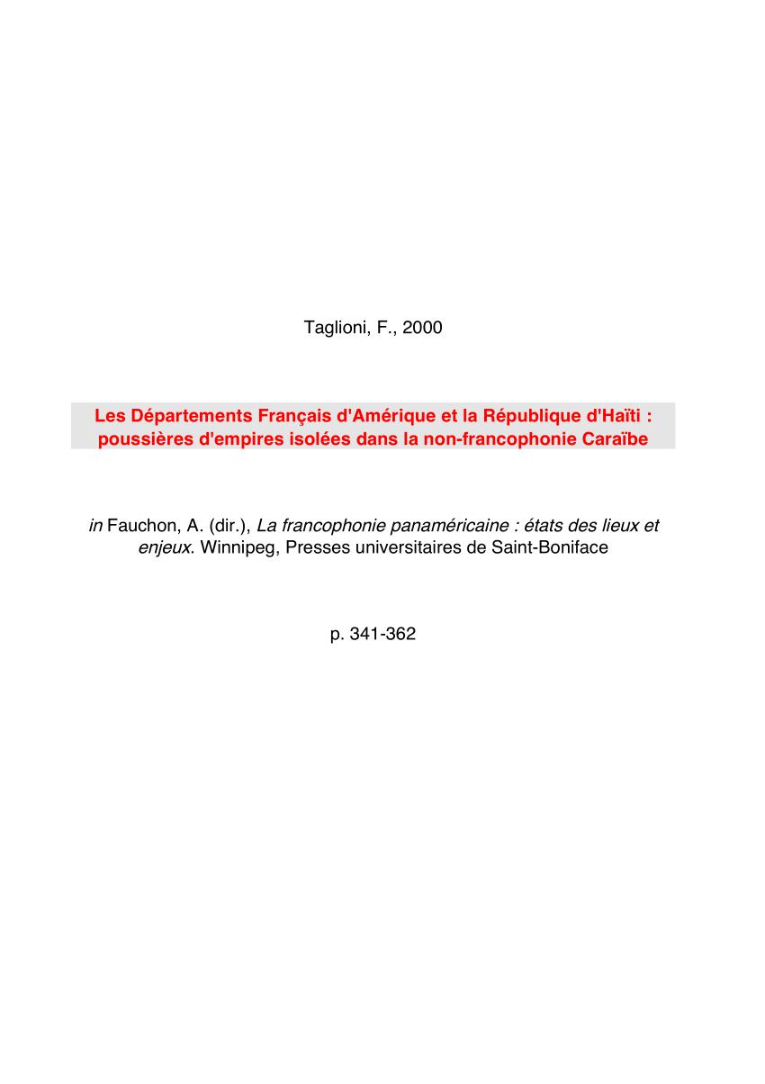 Pdf) Les Départements Français D'amérique Et La République D tout Puzzle Des Départements Français