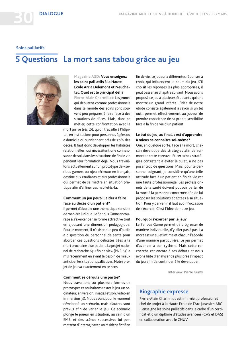 Pdf) Soins Palliatifs: 5 Questions, La Mort Sans Tabou Grâce pour Jeux Avec Des Questions