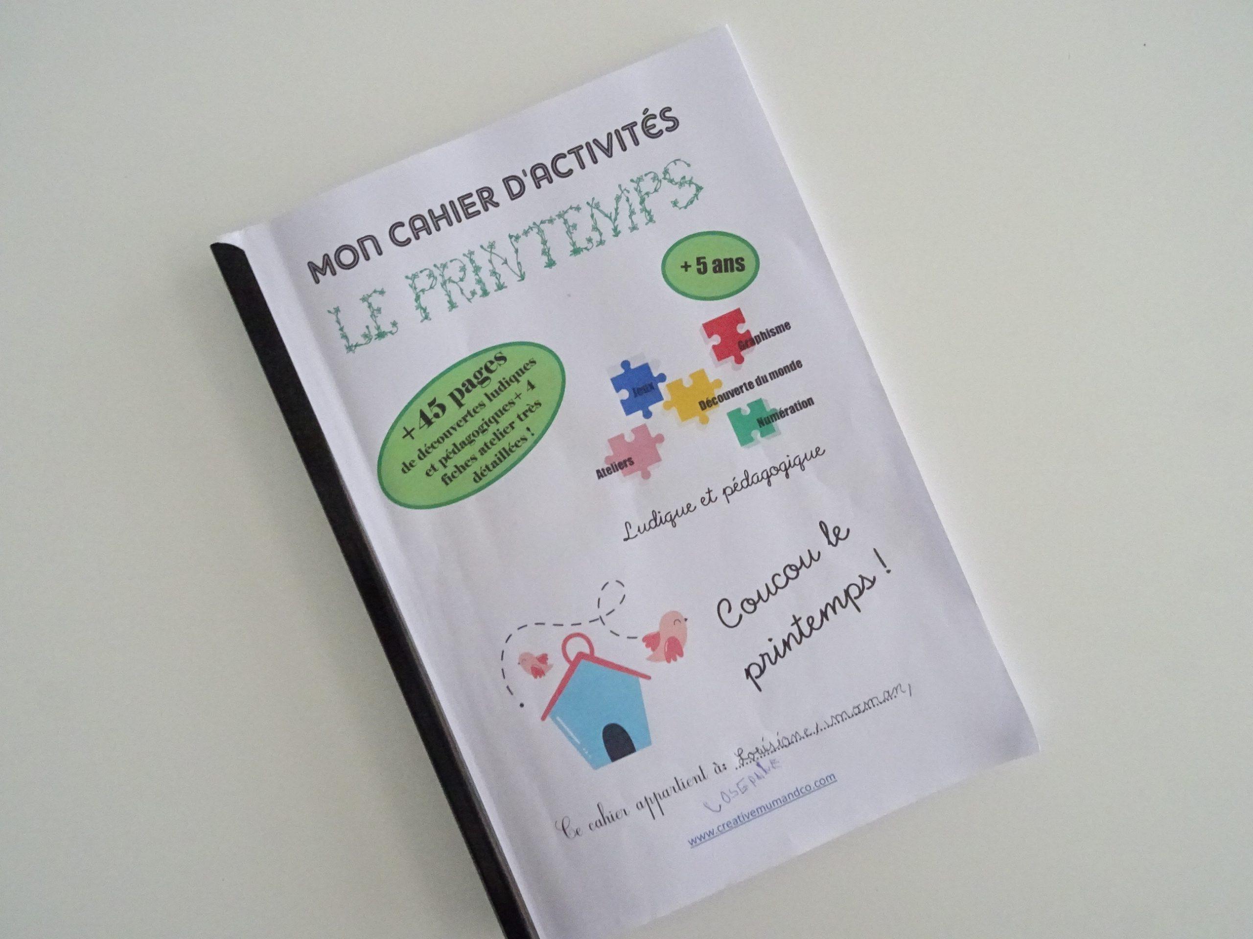 Pdf] Un Cahier D'activités Spécial Printemps À Télécharger dedans Cahier D Activité Maternelle