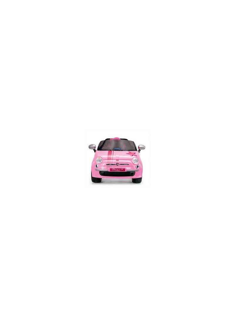 Peg Perego Voiture Pour Enfant 6V Fiat 500 Star Rose destiné Jeux De Voitures Pour Enfants