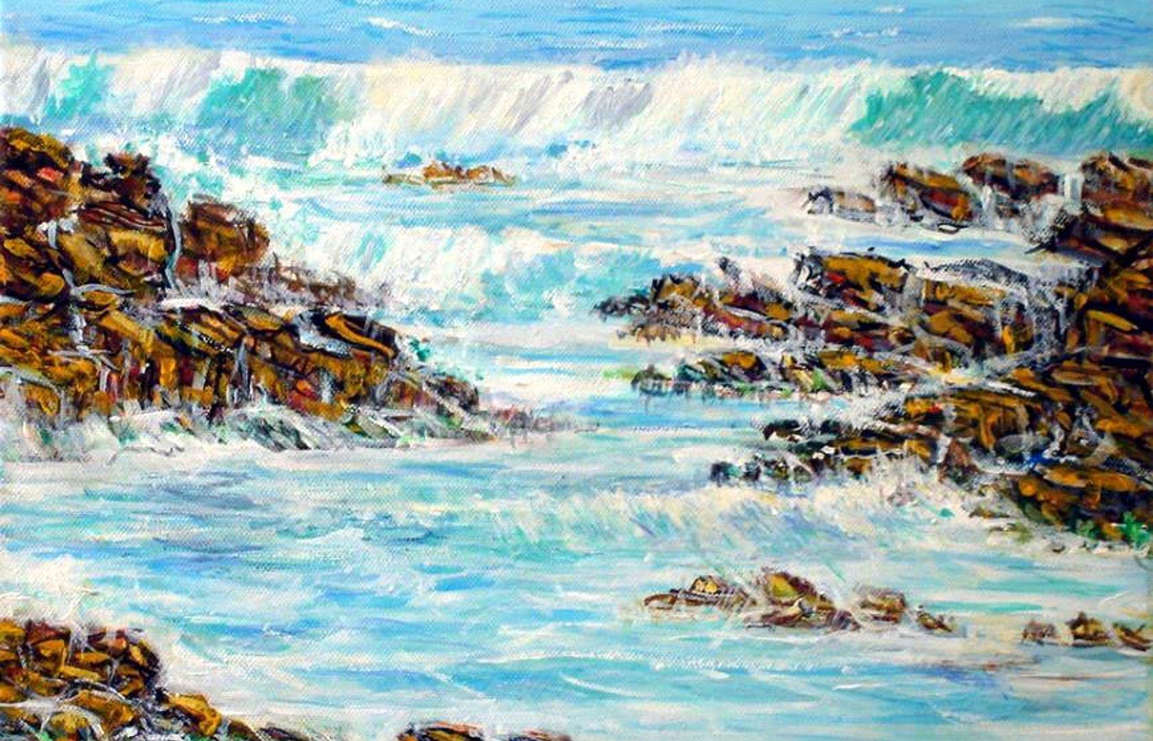Peindre Les Vagues, L'océan | Pearltrees concernant Dessin De Vague A Imprimer