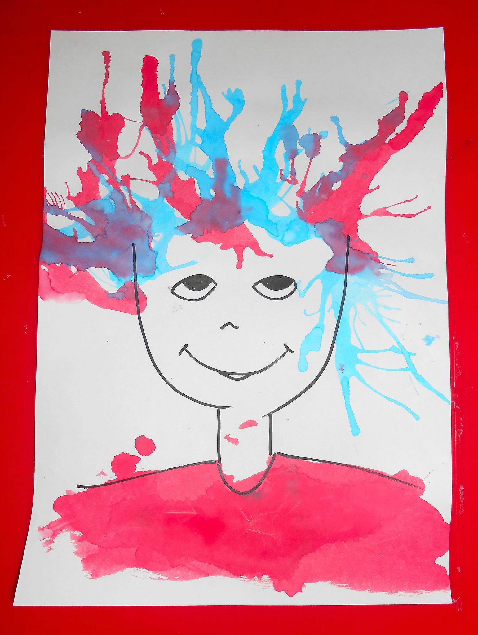 Peinture Avec La Paille - La Maison Féerique destiné Activité Manuelle 4 Ans
