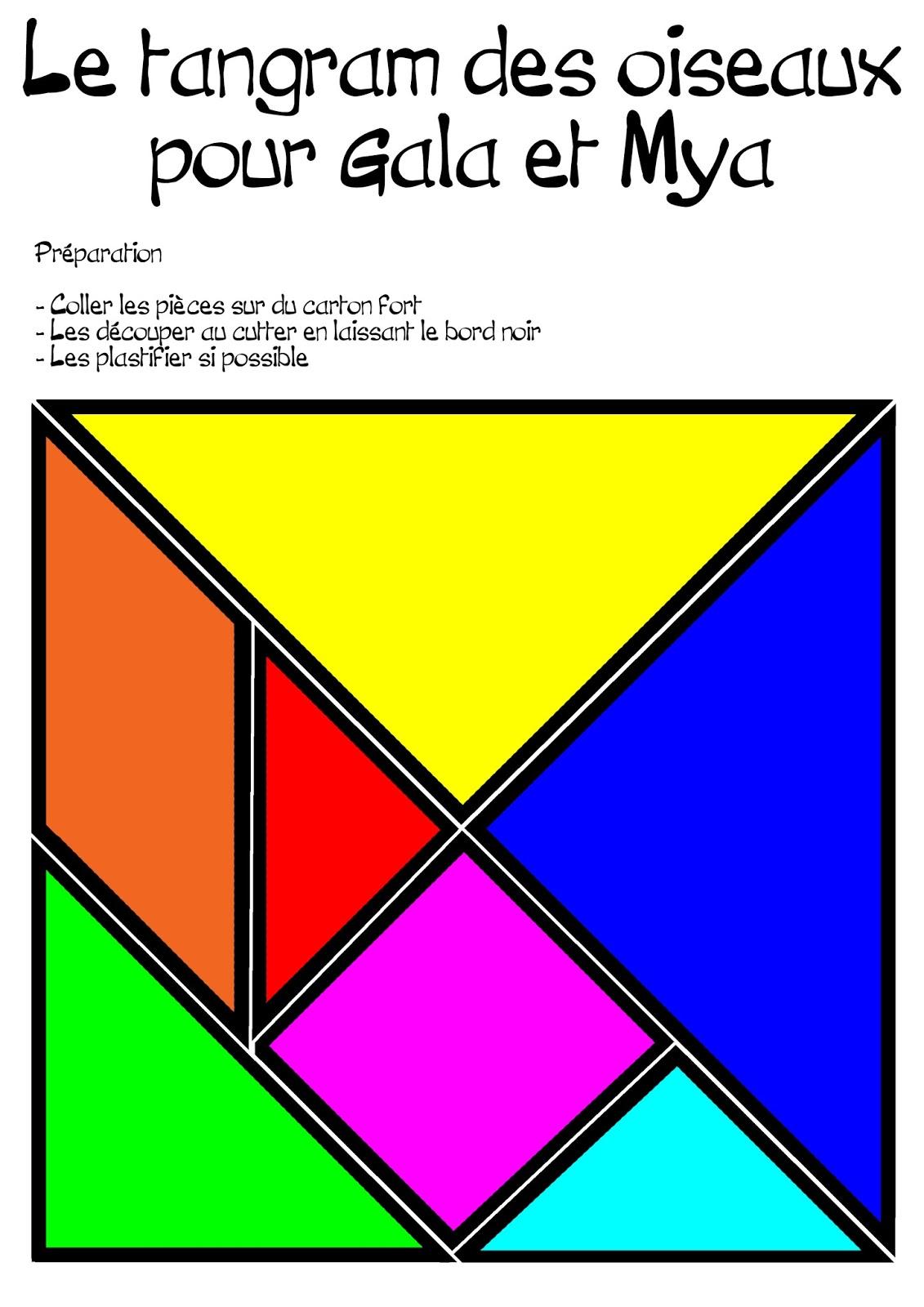 Peintures Numériques: Le Tangram Des Grandes ! intérieur Tangram À Découper