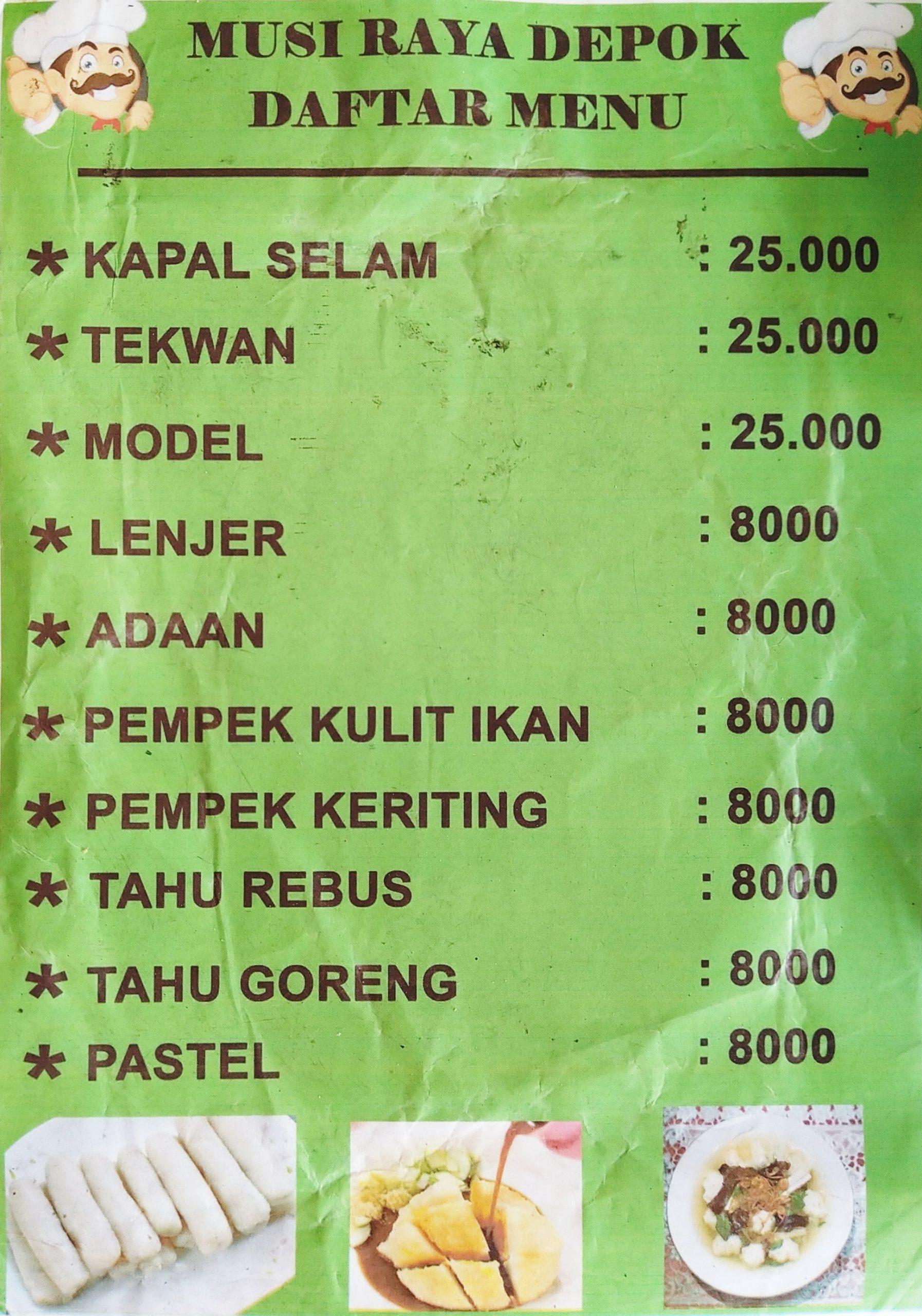 Pempek Palembang Musi Raya Menü - Zomato Indonesia serapportantà Rebus Noel