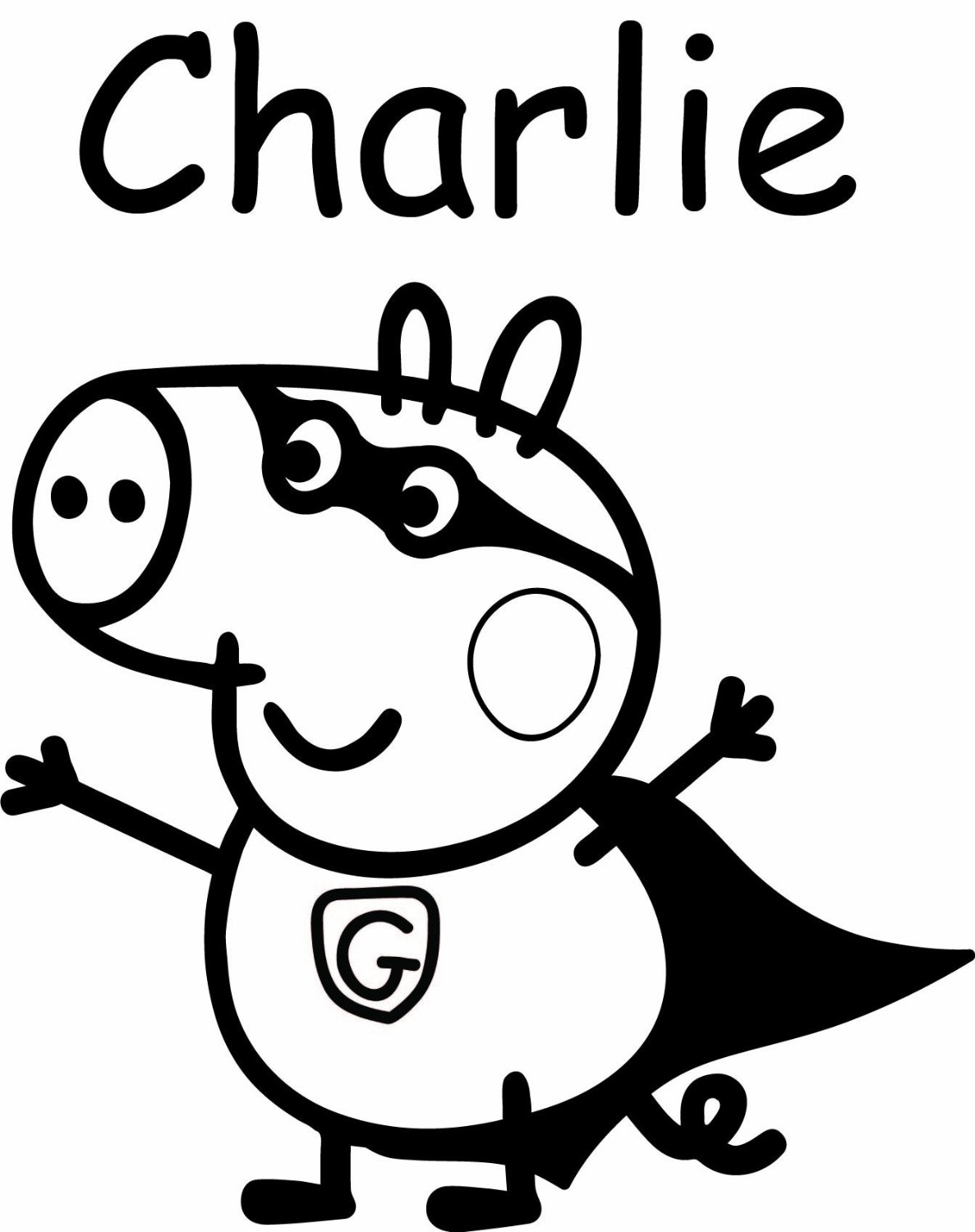 Peppa Pig #96 (Dessins Animés) – Coloriages À Imprimer à Peppa Pig A Colorier