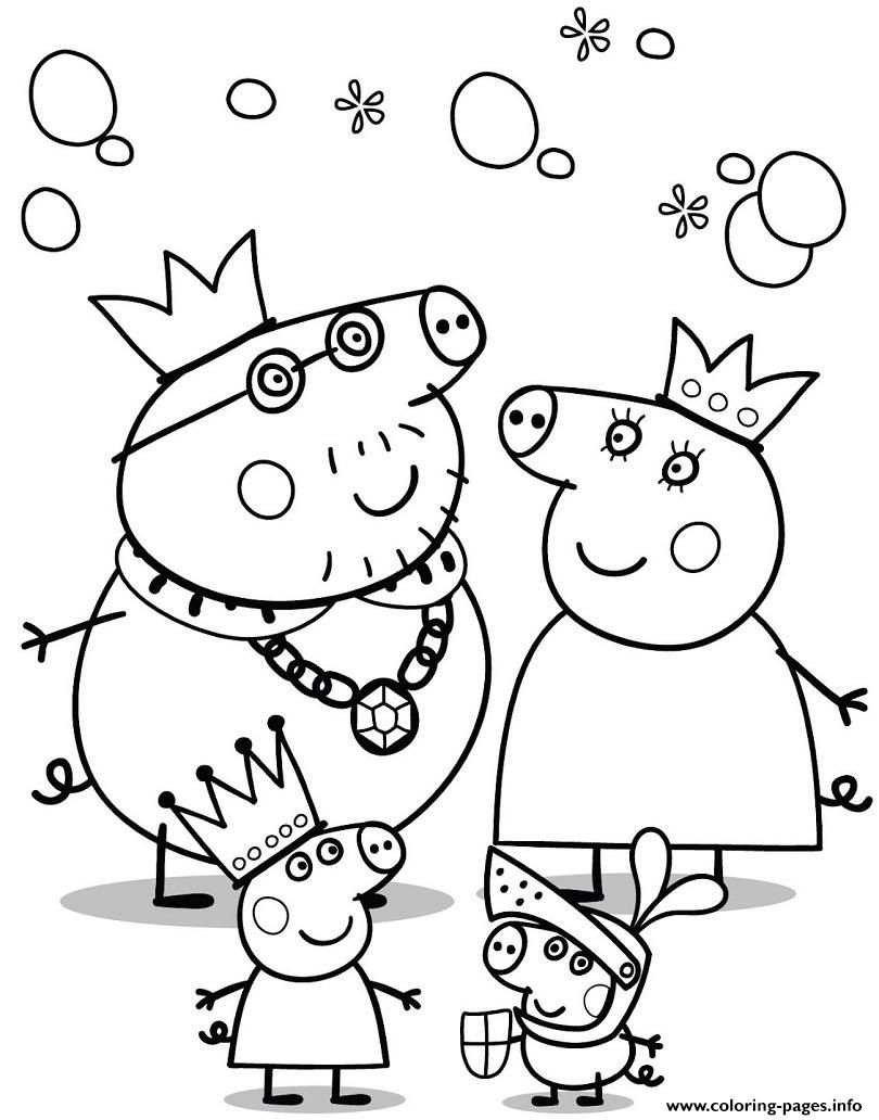 Peppa Pig Birthday Coloring Pages - Coloring Home serapportantà Peppa Pig A Colorier