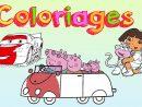 Peppa Pig # Cars # Dora L'exploratrice - Cahier De Coloriage #1 dedans Cahier Coloriage A Imprimer