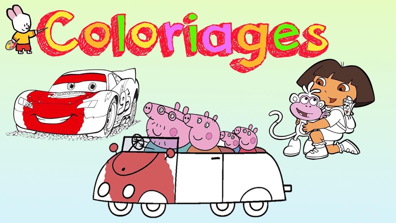 Peppa Pig # Cars # Dora L'exploratrice - Cahier De Coloriage #1 serapportantà Coloriage Tracteur Tom À Imprimer