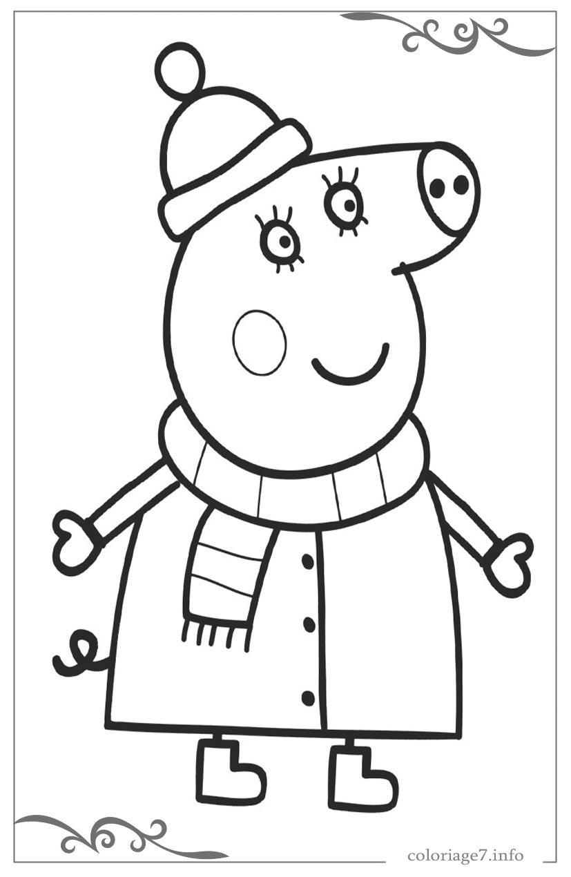 Peppa Pig Coloriages Pour Les Enfants tout Dessin Pour Enfant À Colorier
