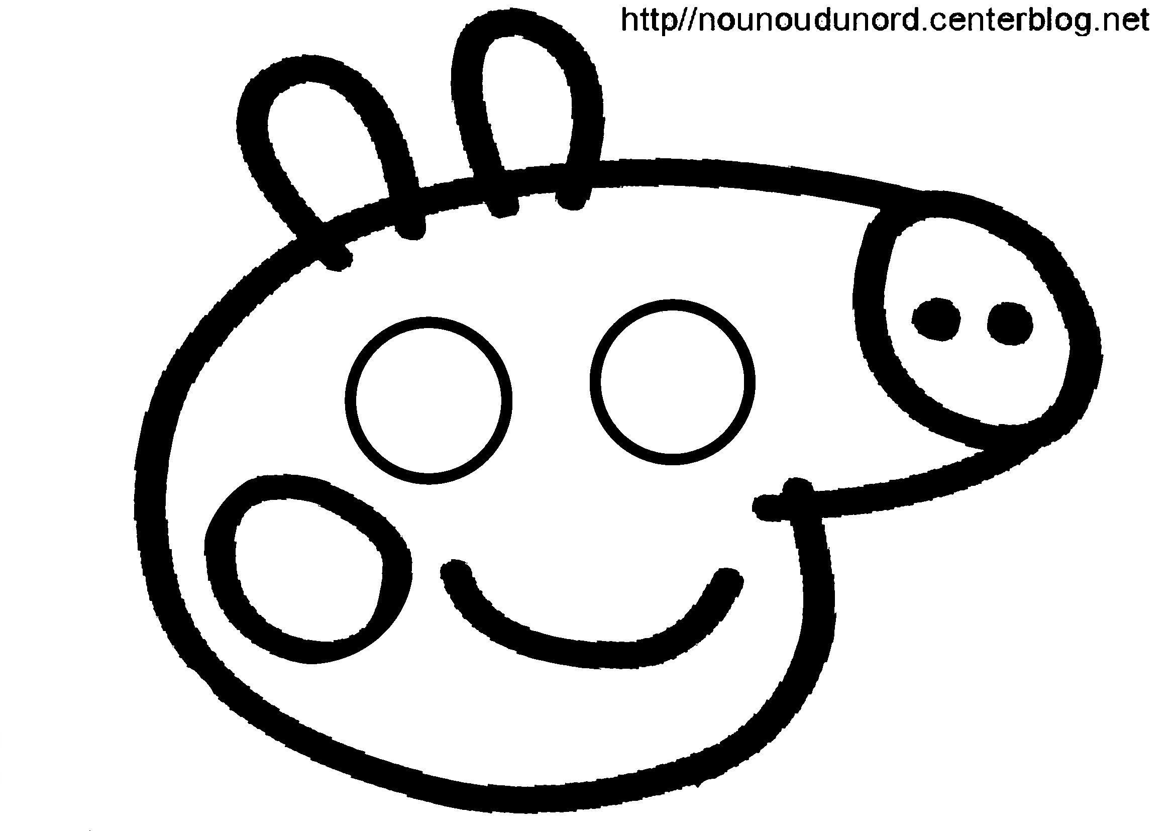 Peppa Pig Masque À Imprimer encequiconcerne Peppa Pig A Colorier